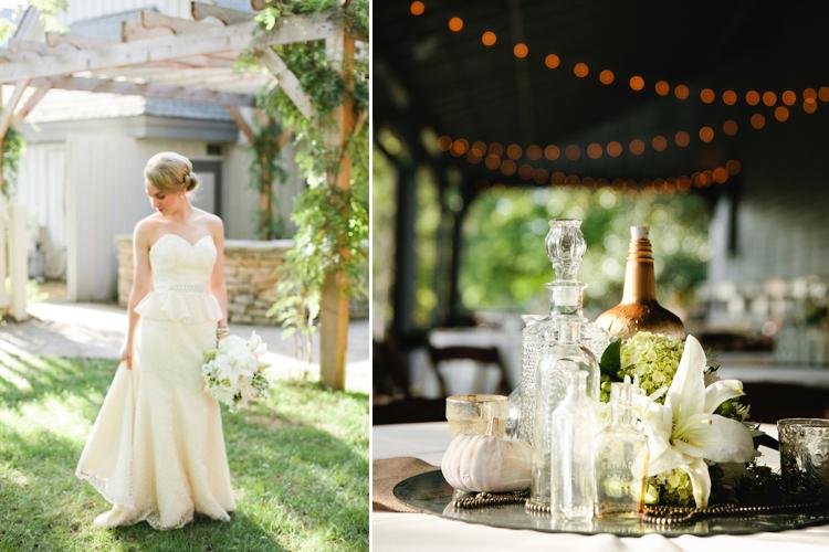neutral fall wedding glamour