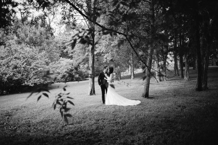 stunning woodland wedding