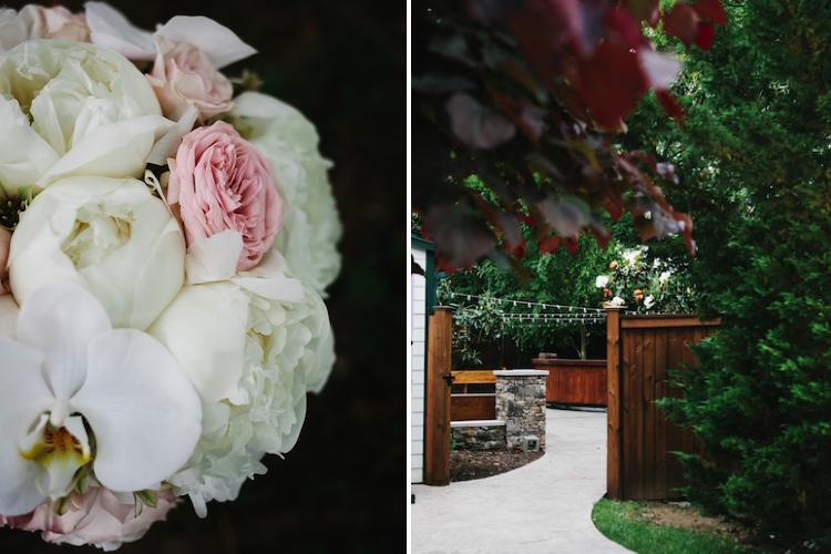 garden rose peony bouquet
