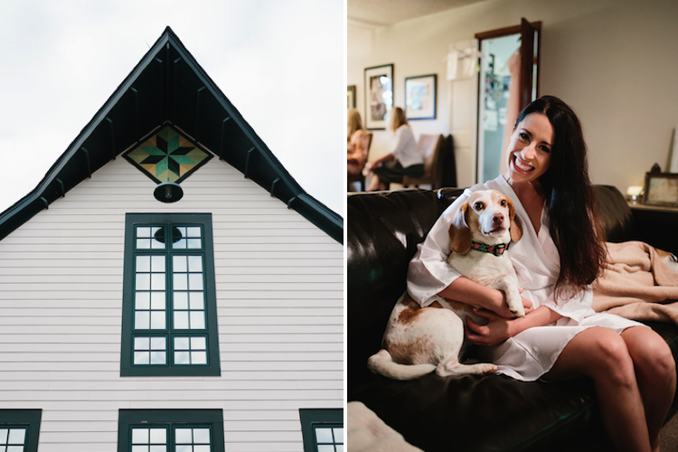 loveless barn bride and her dog