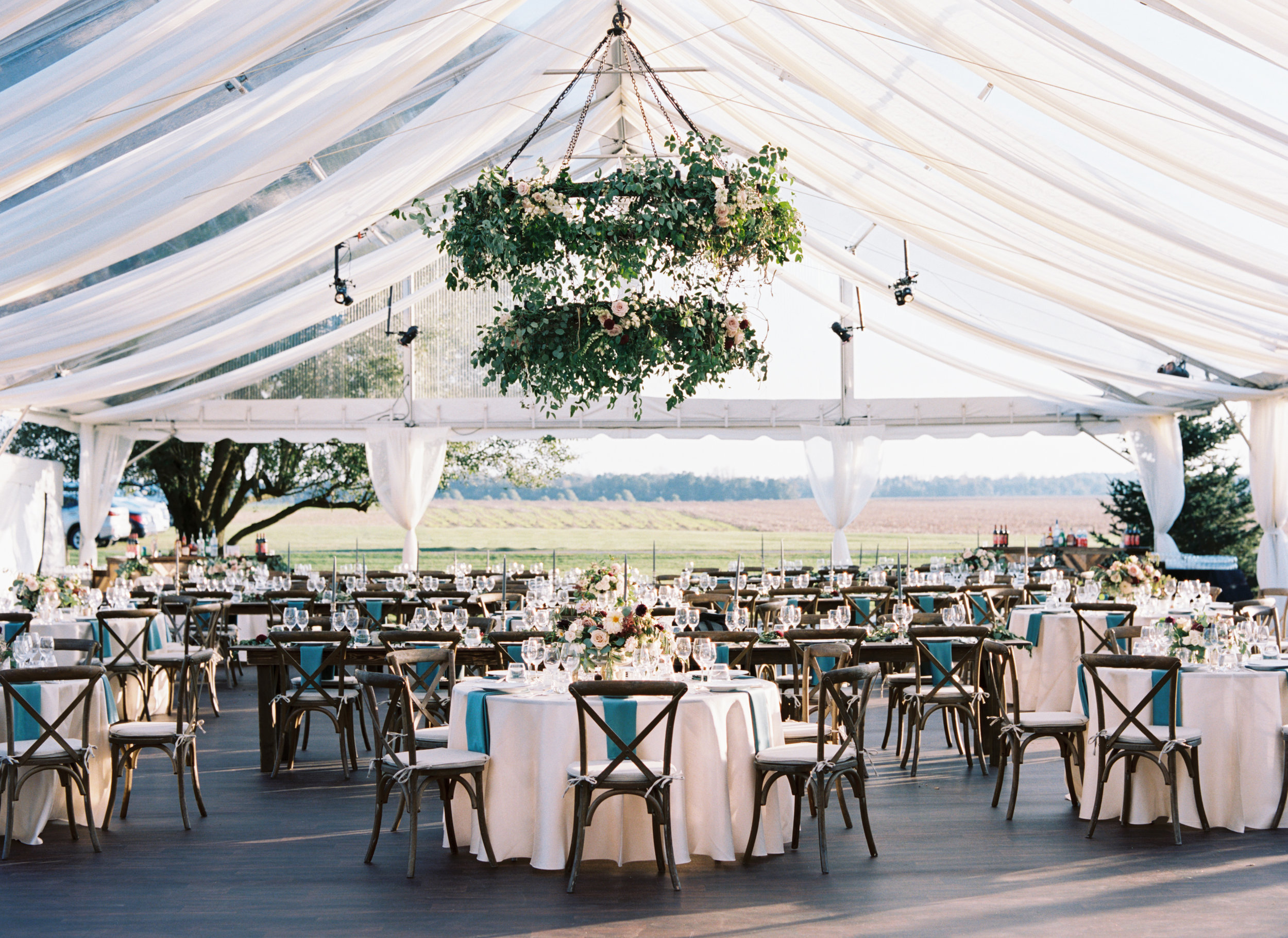 clear top tent Kelly Dellinger Events