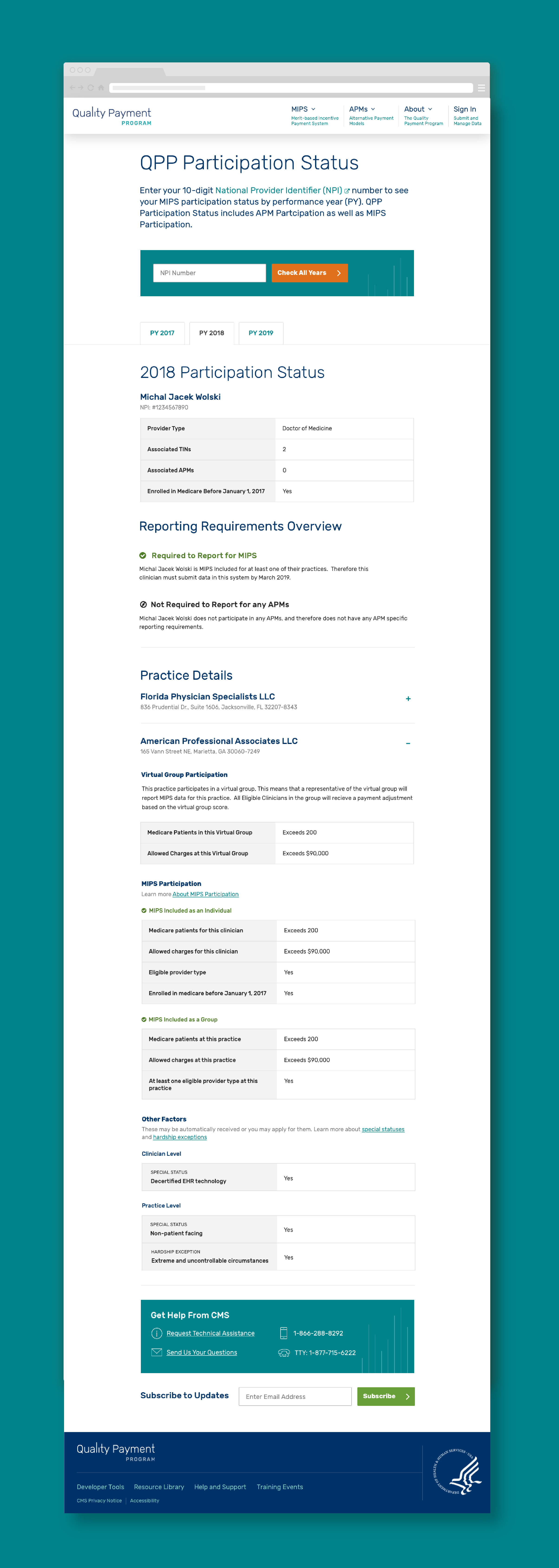 This entire website and tool can be very convoluted and try to convey too much or too little at a time. The users are submitting data that highly impacts the value of their practice and how they look to their patients and clients so being able to find the balance of what do they need to know on this page vs what becomes too much or what are we missing are questions we've asked ourselves through the entire process.