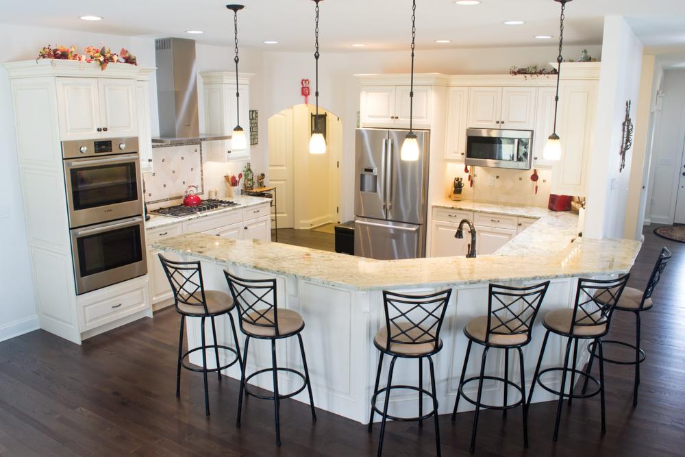 White painted custom cabinetry oyster glaze breakfast bar -4.jpg