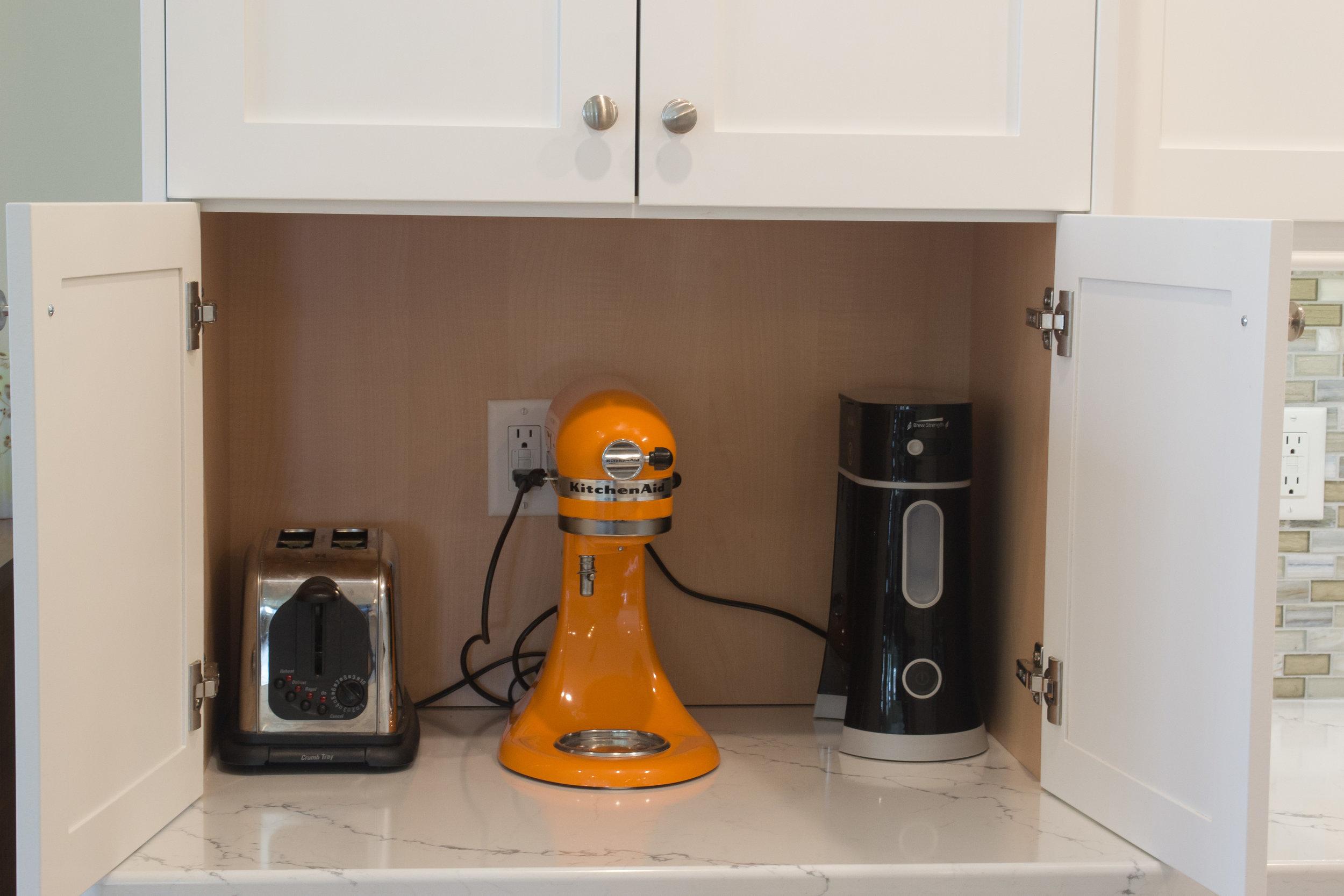 Hidden appliance storage