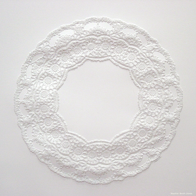 Formation six, pinholes on paper, 8 in. x 8 in., 2006