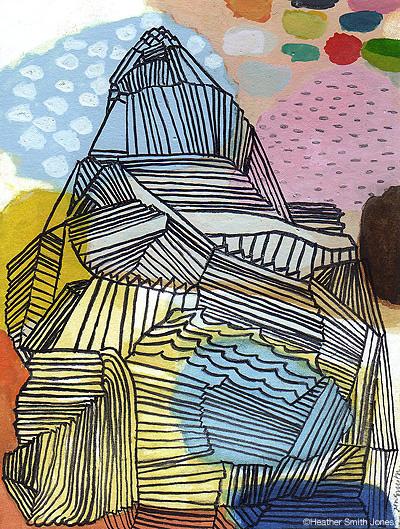 6.28 , handmade watercolor on paper, 2010