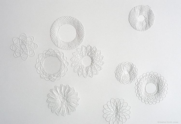 Nine II , pinholes on paper, 9 in. x 12 in., 2005
