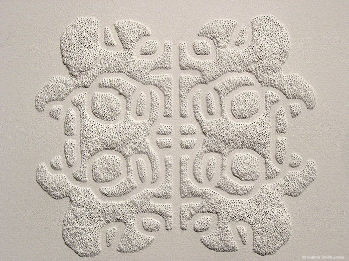 Reflecting series: patterning the moments, looped cloud , pinholes on grey paper, 2006
