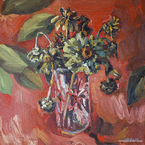 After the first frost , oil on canvas, 9 in. x 9 in., 2010