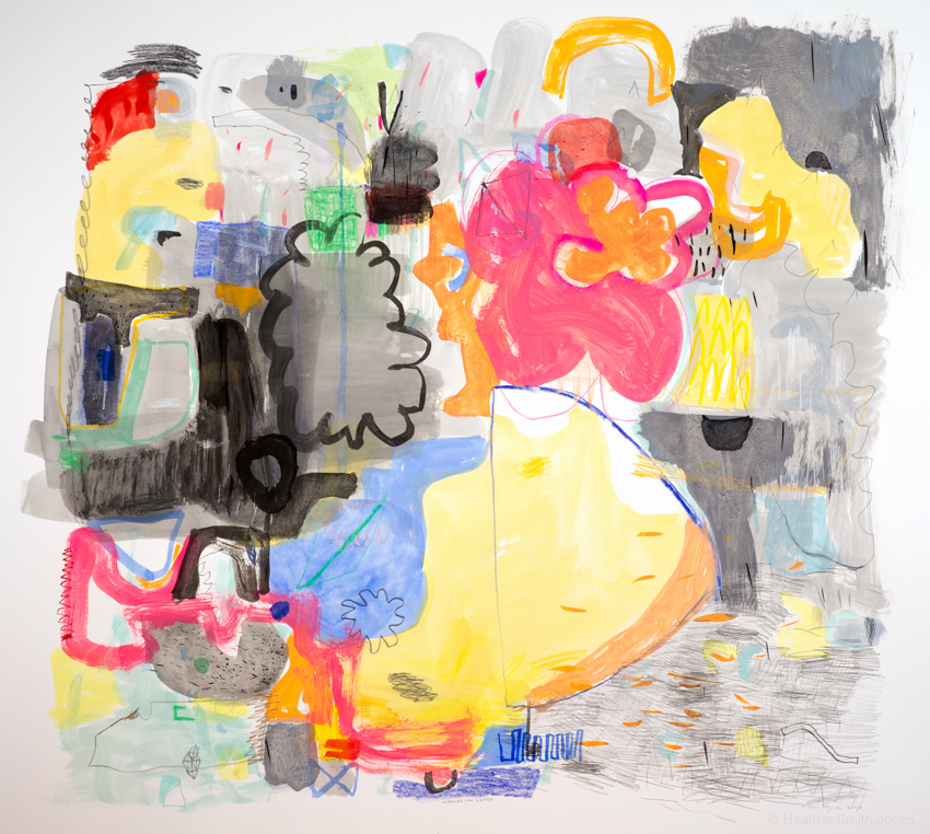 2.10.16, Miracles can happen,  mixed media on paper, 32 in. x 32 in., 2016