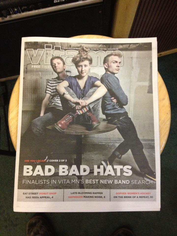 Noah plays in Bad Bad Hats. Click on the link to download their EP.