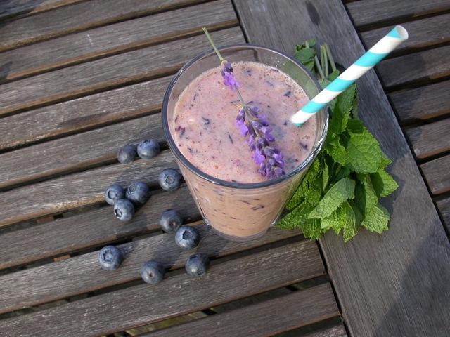 Smoothie med blåbær