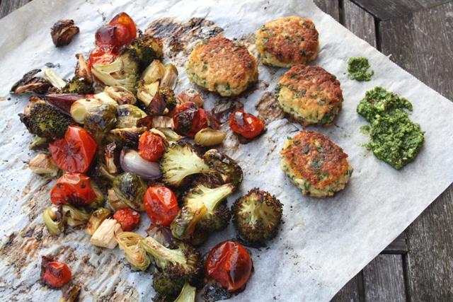 Proteinrige, glutenfrie vegetar-deller