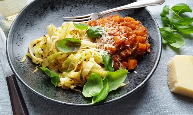 Vegetarisk Bolognese med linser og chili