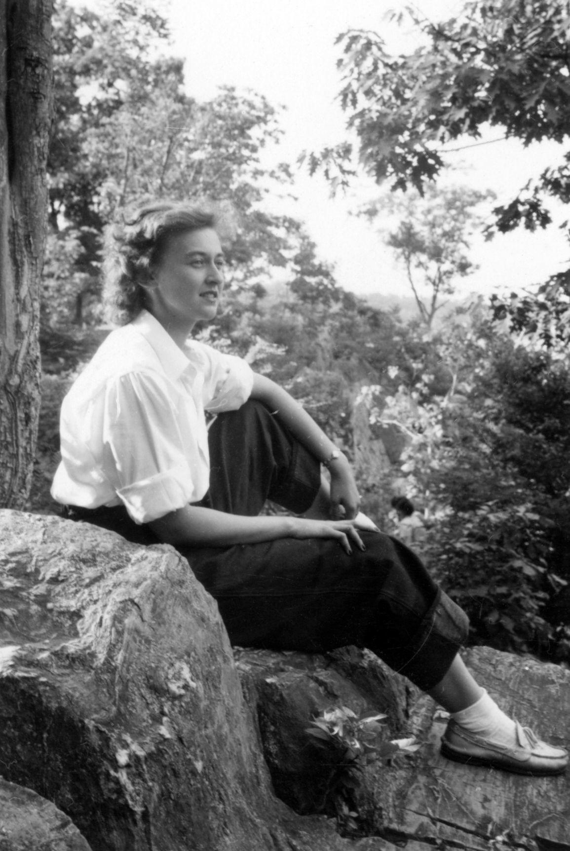 Lorraine on a hike