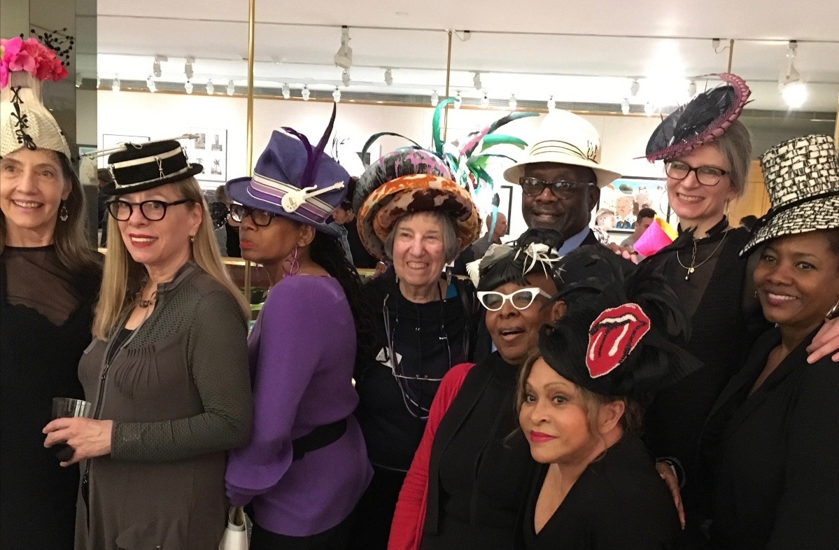 Opening night party attendees looking great!   Back row from left to right:  Barbara Volker, Linda Ashton, Wanda Chambers, Judith Solodkin, Michael McCants, Sally Caswell and Lisa McFadden.  Front row:  Kathy Anderson and June Gumbel.