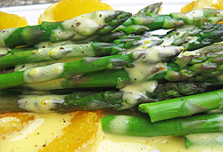 Fresh Asparagus with Maltaise Sauce  Photo : Jackie Cameron
