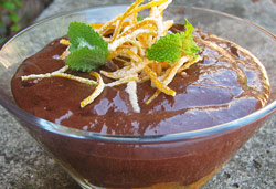Classic Orange and Cointreau Belgium Chocolate Mousse  Photo : Jackie Cameron