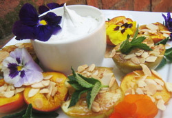 Low Fat Roasted Peaches and Apples Photo : Jackie Cameron