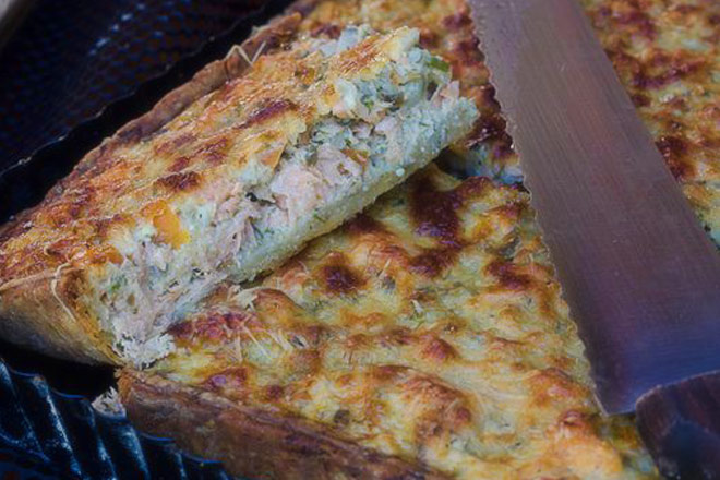 Trout Quiche Photo : Karen E Photography