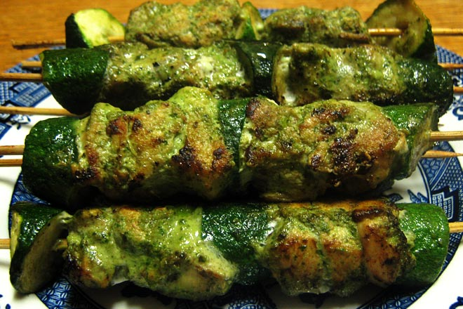 Thai Green Curry Chicken Skewers  Photo : Jackie Cameron