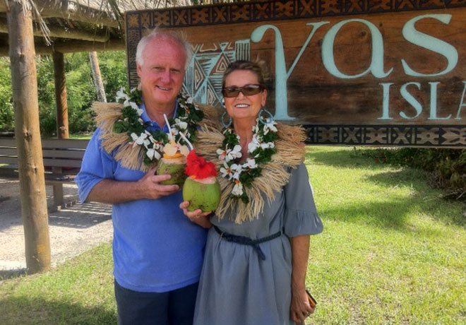 Cheryl and I on Yasawa Island, Fiji