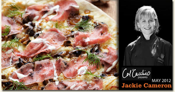 Jackie Cameron - Col'Cacchio Celebrity Chef May 2012 /Col'Cacchio Pizzaria (p)