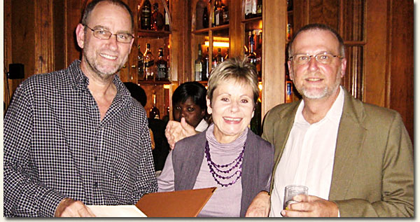 Hartford Guests Charles and Jane van der Spuy with Richard Salmon / Food And Travel Durban (p)