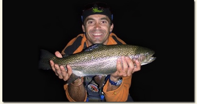 Chris Helmbold displays his 54cm Rainbow Trout / Hartford House (p)