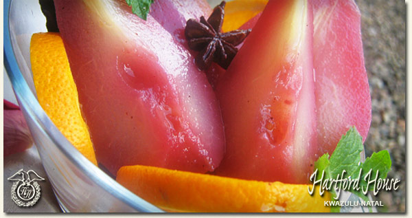 Red Wine Poached Pear