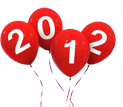 2012 new years balloons
