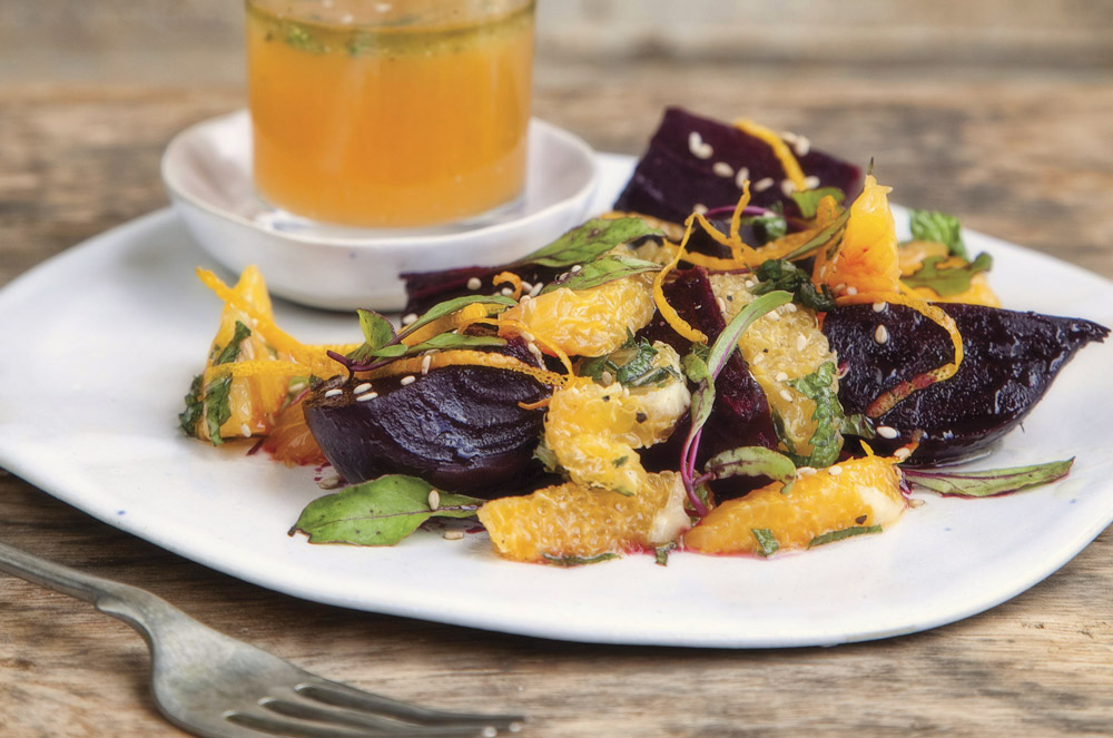 Beetroot with Fresh Orange Segments and Mint / Brookdale Health Hydro (p)