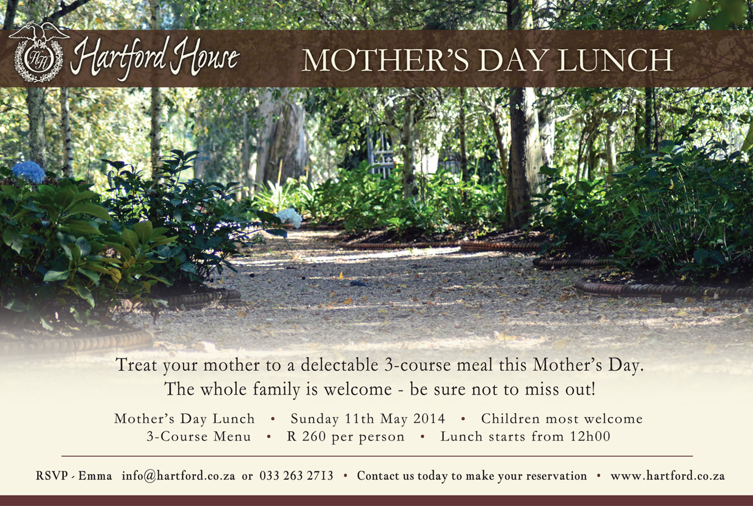 Mother's Day Lunch - Midlands Meander