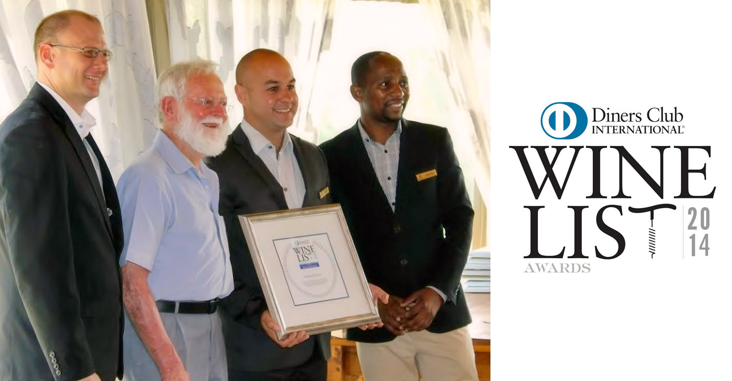 Hartford House management team receives the Diners Club Diamond Winelist Award / Diners Club (p)
