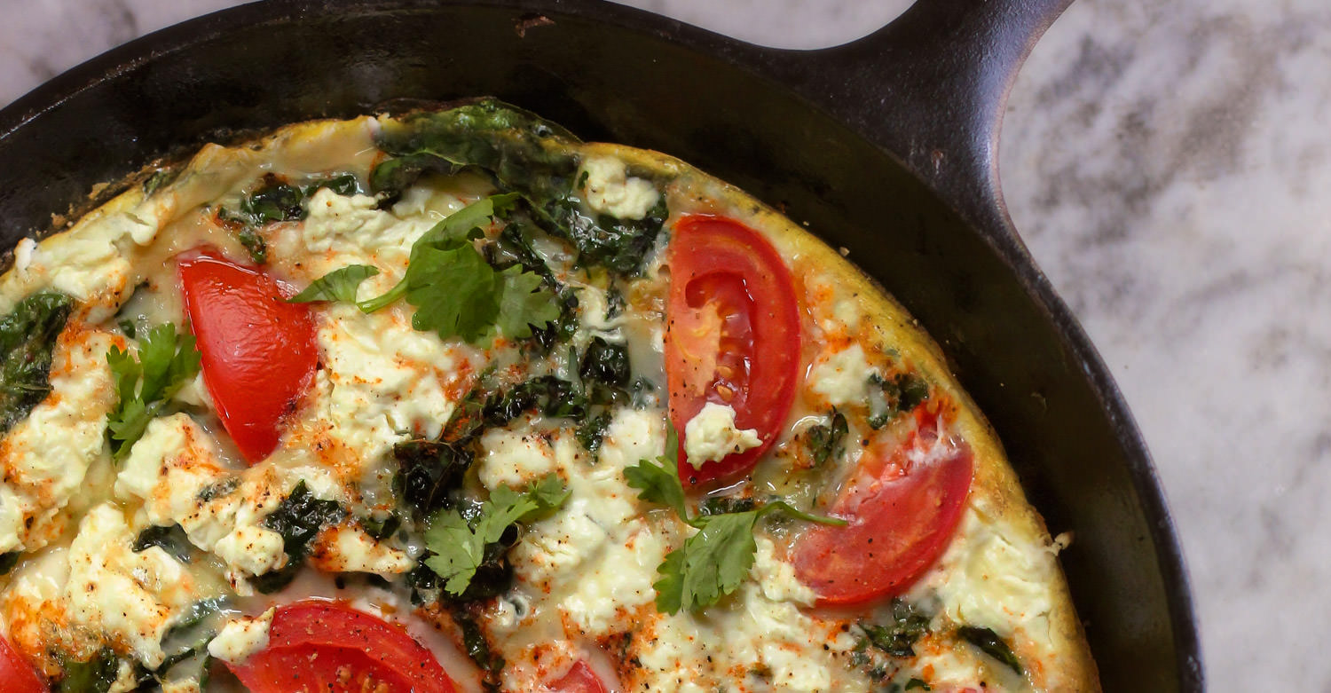 Buttermilk Spinach & Smoked Salmon Frittata