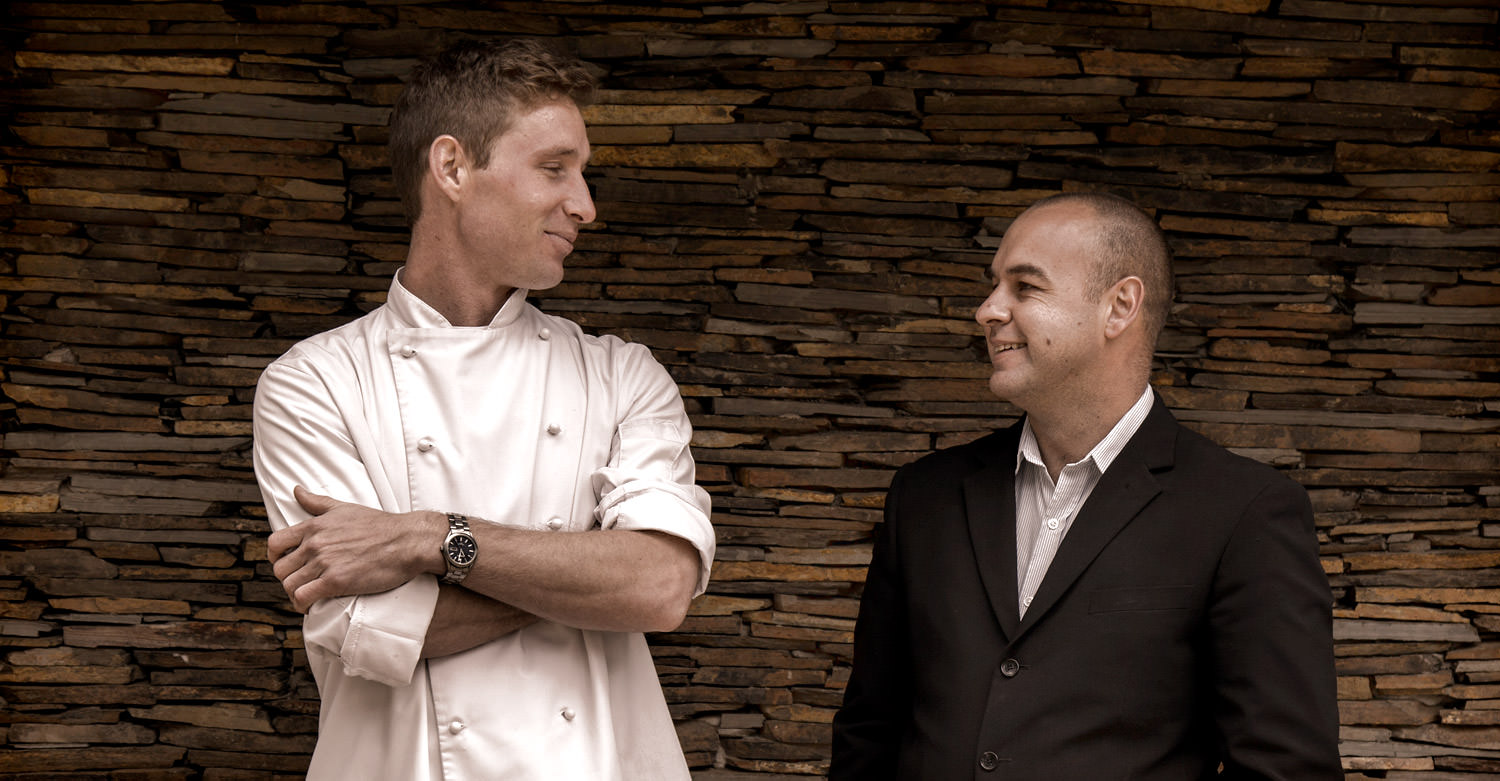 Head Chef Constantijn Hahndiek and GM Duncan Bruce