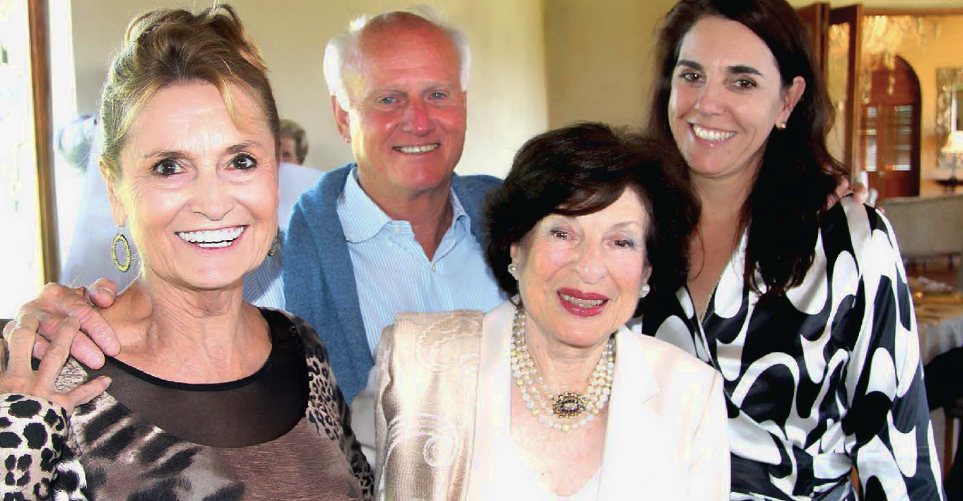 Cheryl and Mick Goss, owners of Summerhill Stud and Hartford House with organisers Annette Kesler and Chania Morritt-Smith