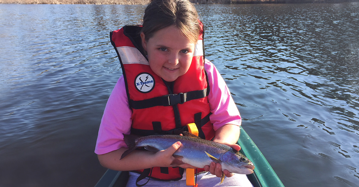 Caitlin Baxter Trout Fishing