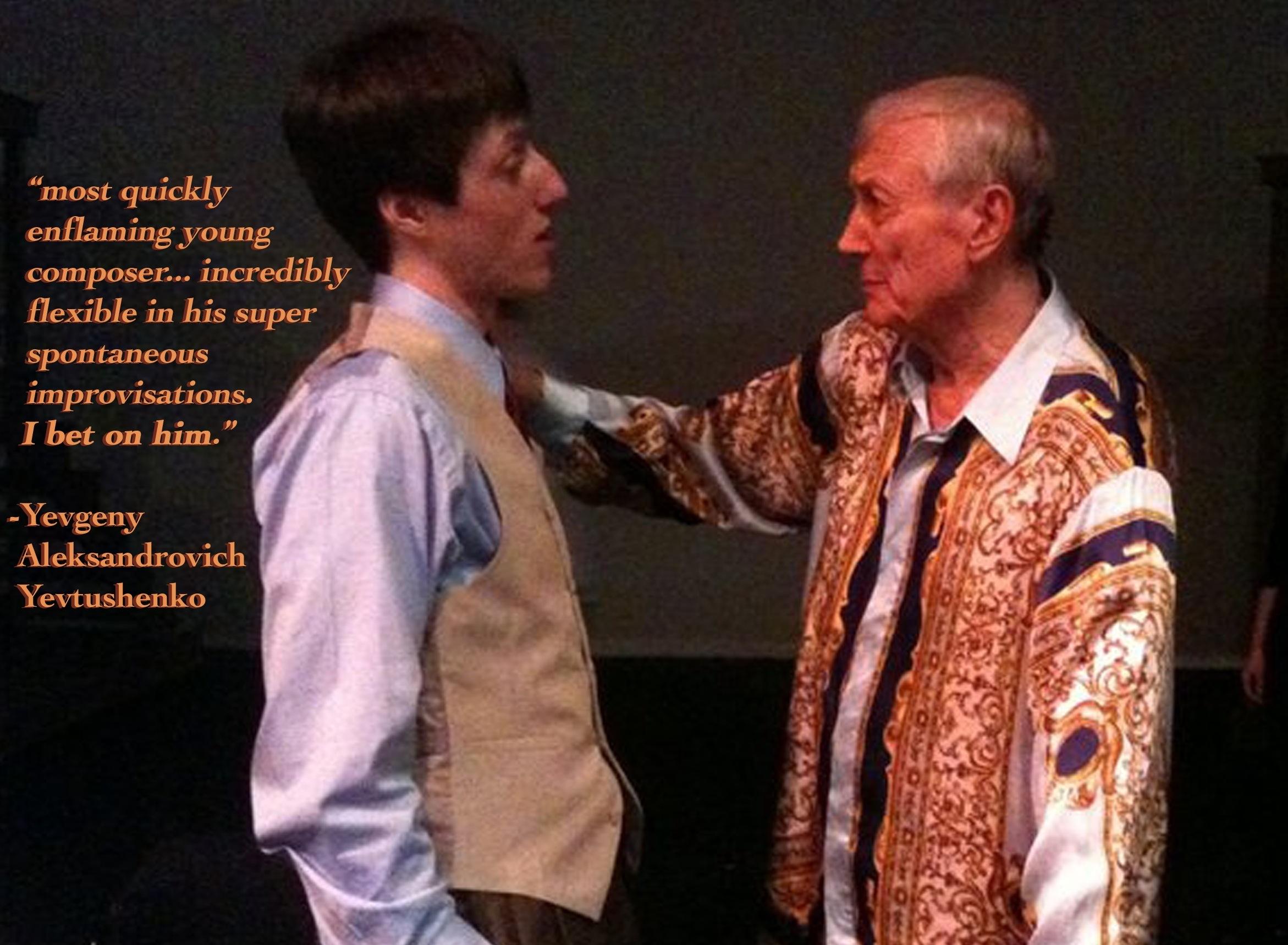After my 2010 (3-hour!) performance with Yevgeny Yevtushenko in Tulsa, OK