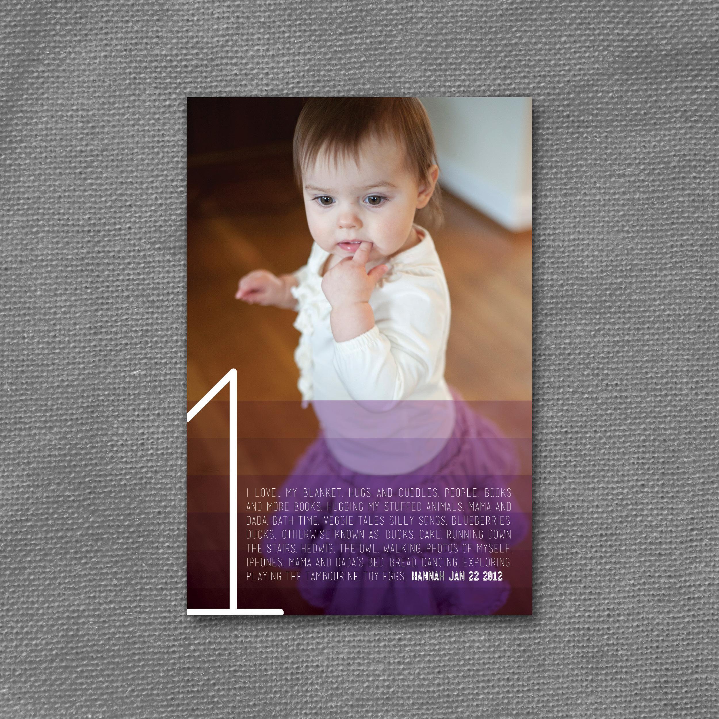 purple ombre age card
