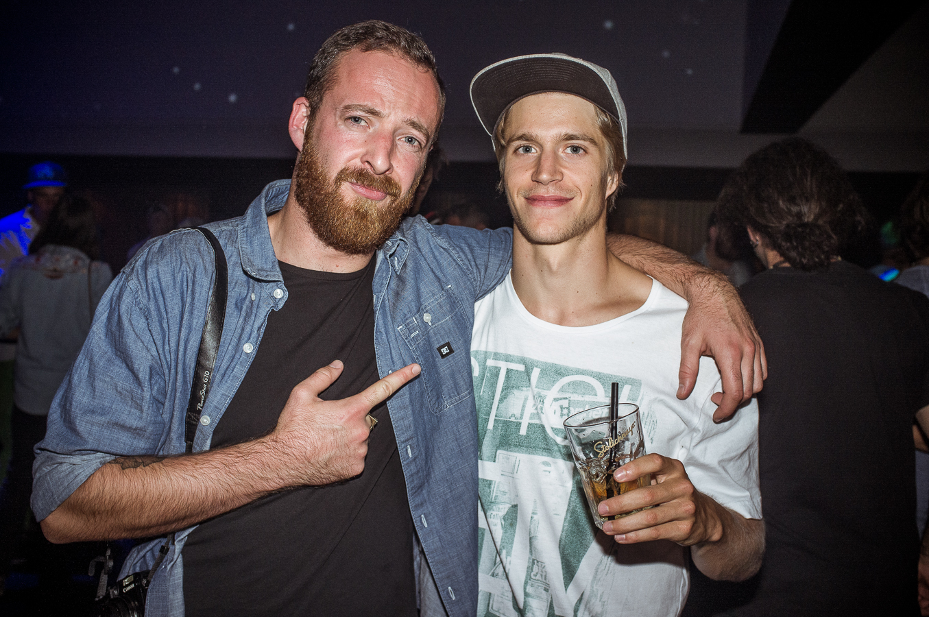 Julien Perly from Snowsurf Magazine & Mat Schaer