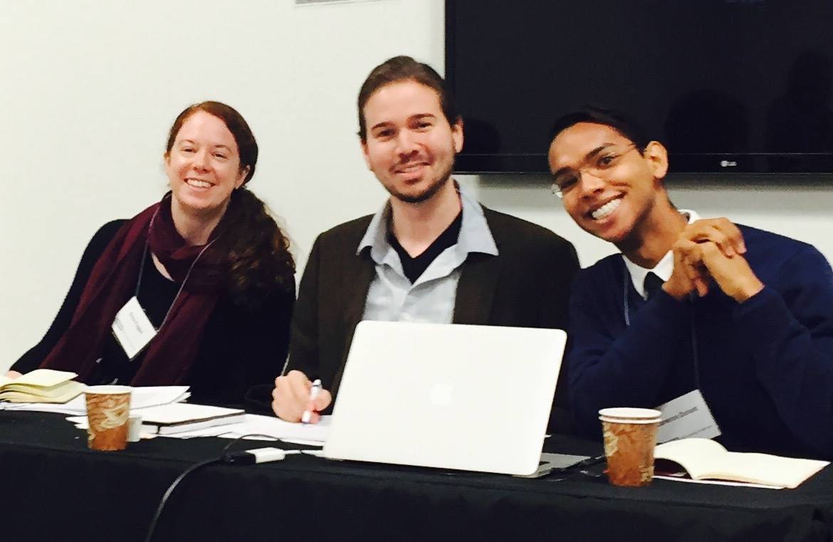 At the OHMAR conference, April 9 and 10, 2015. Left to right: Erica Fugger, Cameron Vanderscoff, Cameron Donald.