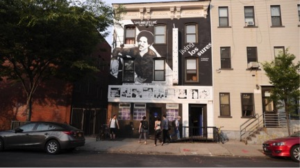 UnionDocs, identifiable by its Living Los Sures mural. Source:  Voices of New York .