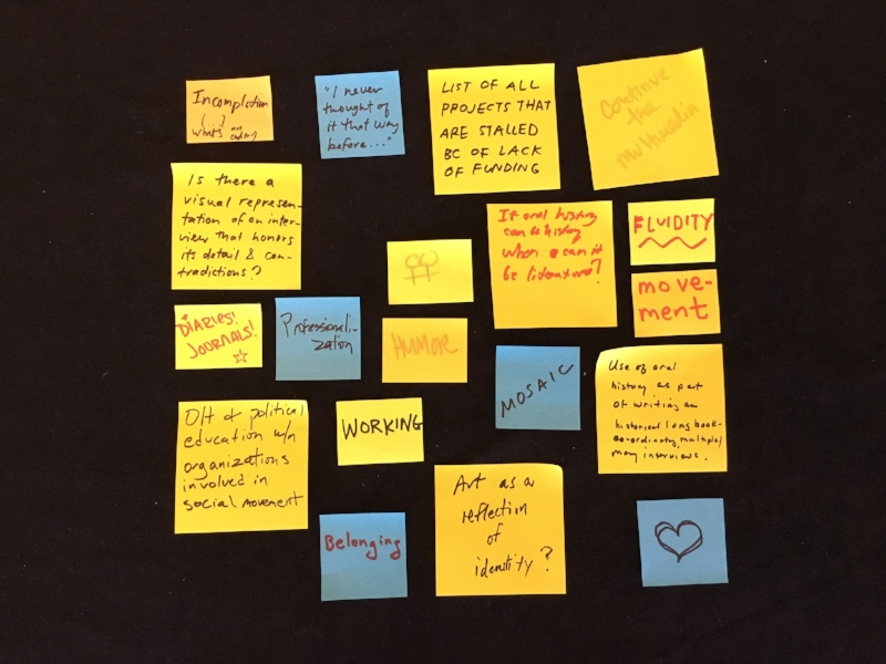 In Context Journal   asks 2016 Oral History Association Annual Meeting attendees what they would like to see in future issues.