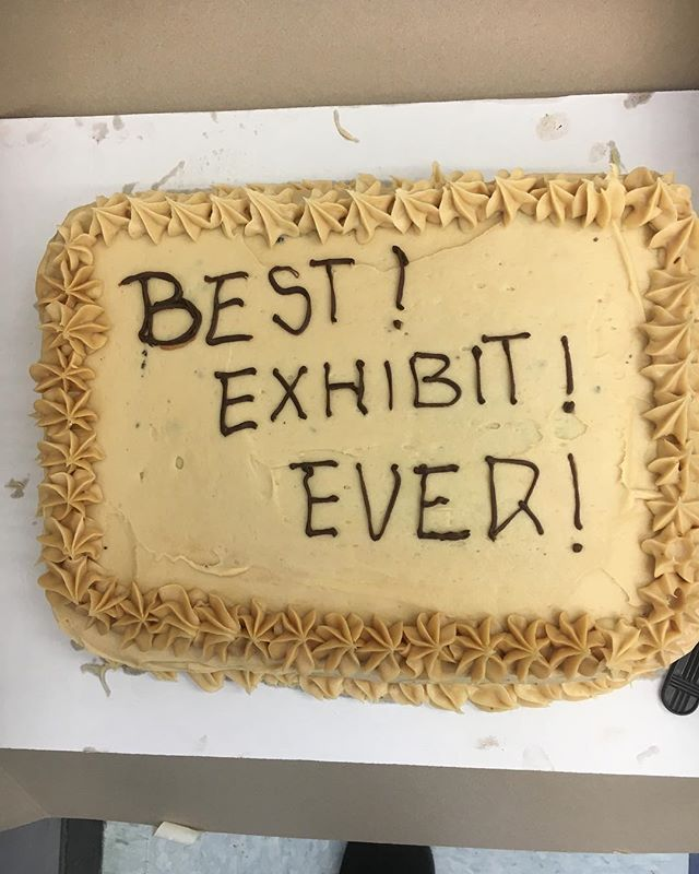 The cake doesn't lie! Thanks to everyone who came along to Inter/Views and supported our work! ✨🍰✨