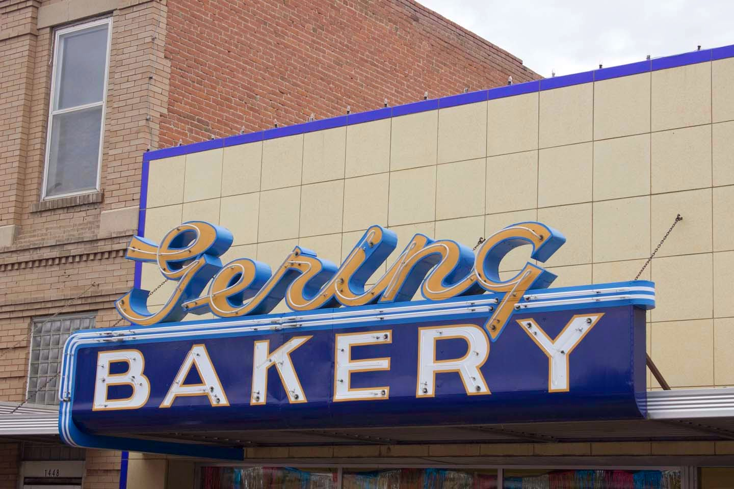 Gearing Bakery in Gearing, Nebraska -- taken just after watching a charming parade in downtown Gearing.