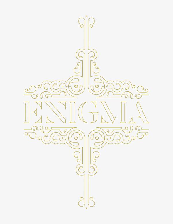 Enigma Type Ornament - Eva Moon Press journal
