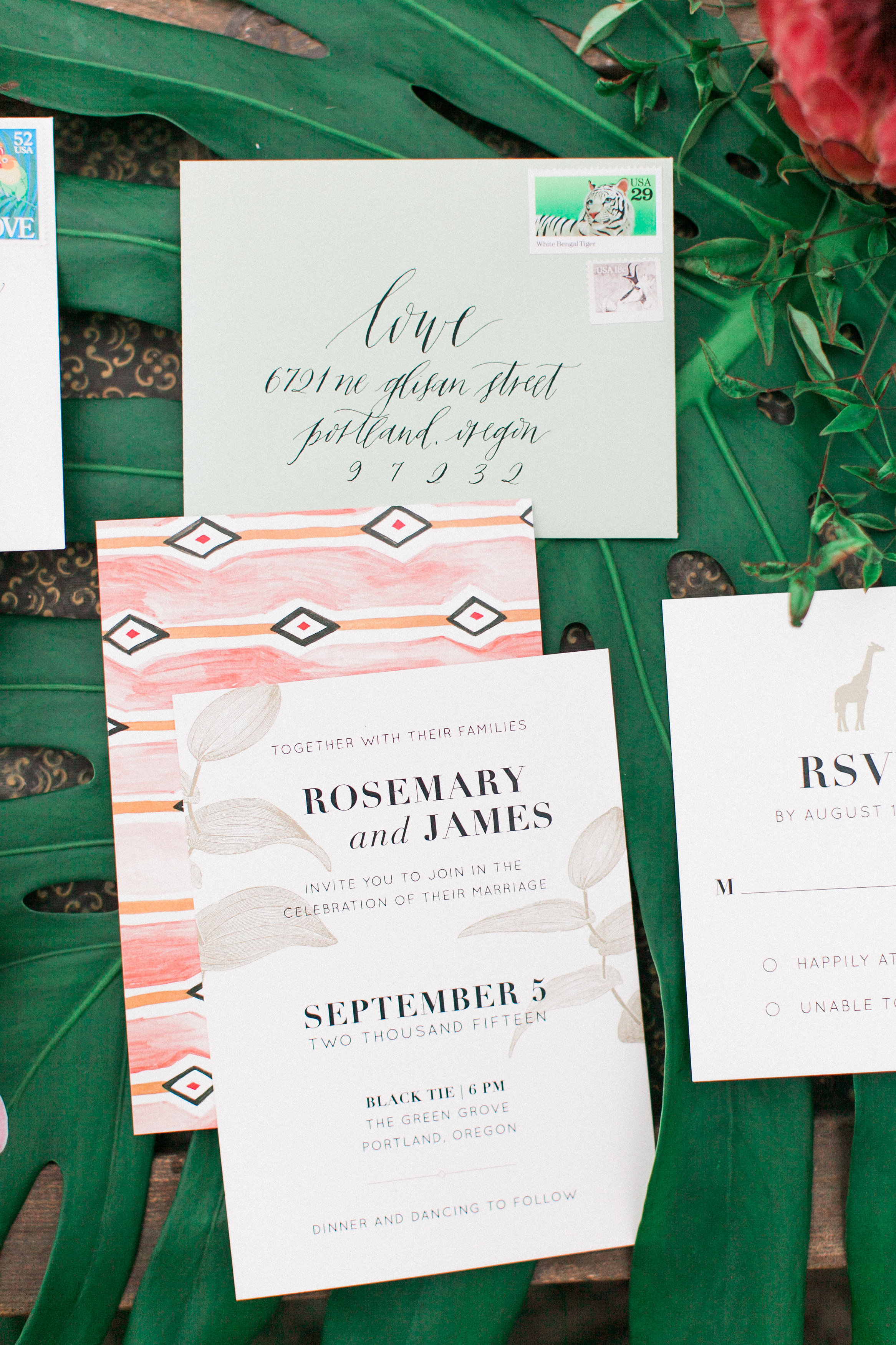 Safari Styled Wedding Invitation Suite / Eva Moon Press