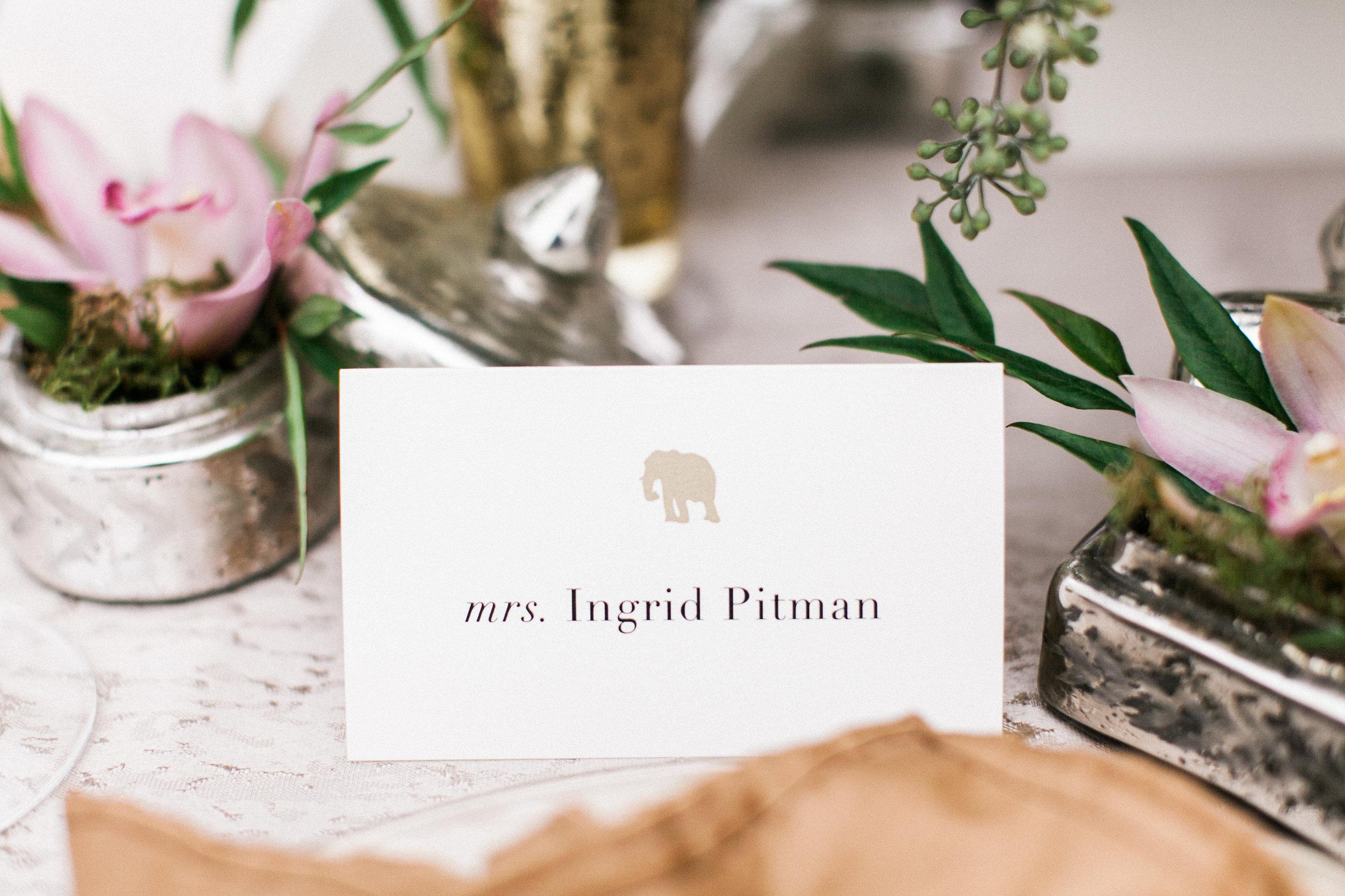 Safari Styled Wedding Place Card / Eva Moon Press