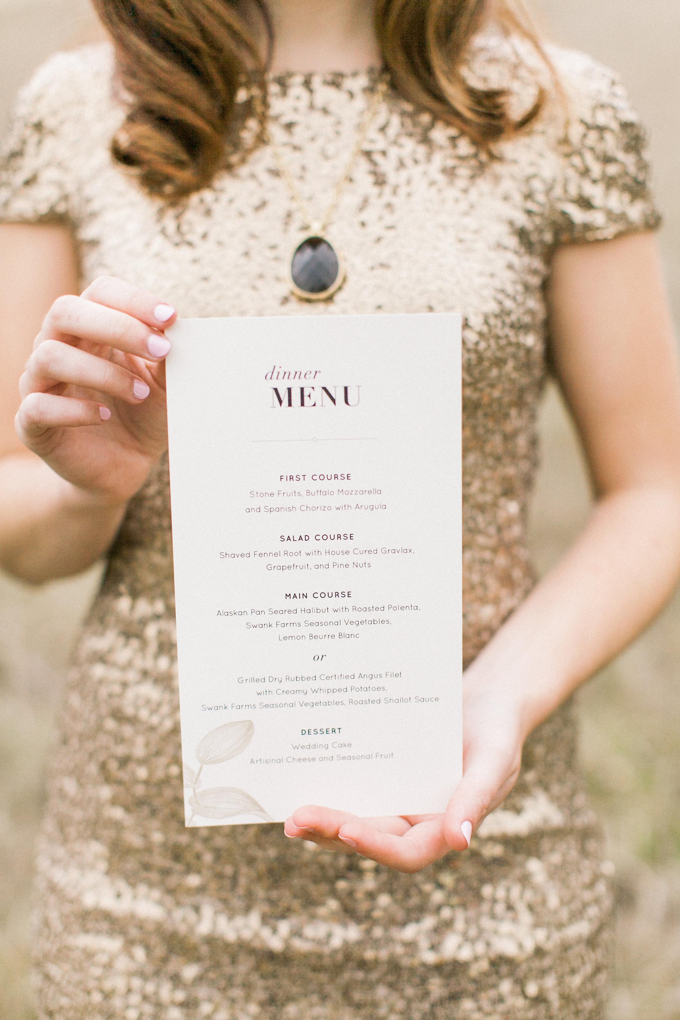 Safari Styled Wedding Menu / Eva Moon Press